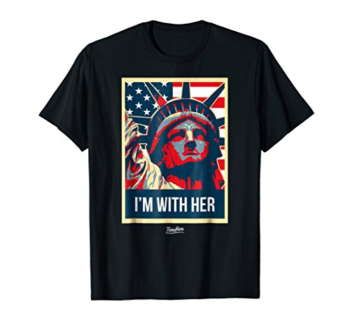 Im With Her Vintage Statue Of Liberty New York T Shirt -