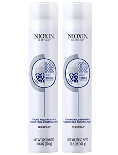 Niospray Hairspray Strong Hold 10.6 oz (2 Pack)