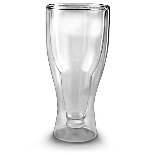 Fred HOPSIDE DOWN Double-Walled Longneck Beer Glass