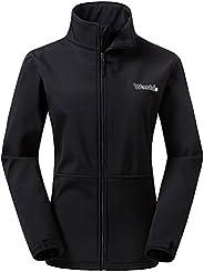 Wantdo Women's Windproof Softshell Jacket Insulated Spring Autumn Windbre