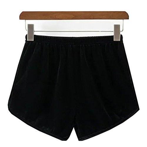 責任労苦後者JKTOWN ベロアパンツ ベロアショートパンツ ショートパンツ 短パンツ パンツ ワイドパンツ ベロア ベルベット レディースパンツ ハイウエスト ウエストゴム ゆったり カジュアル 優雅