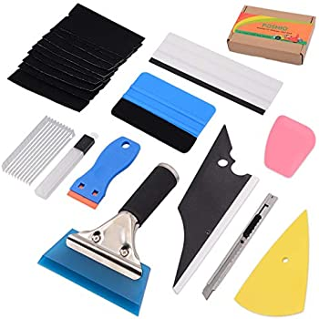 14PCS Combo Pro Tool kit Car Vinyl Wrap Squeegee Tools with Pouch