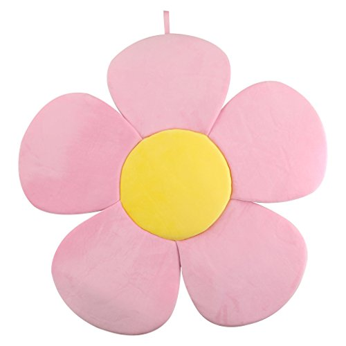 Baby Bath Support Lounger, Kakiblin Flower Baby Bath Comfort Baby Bath Pad for 0-6 Months, Pink