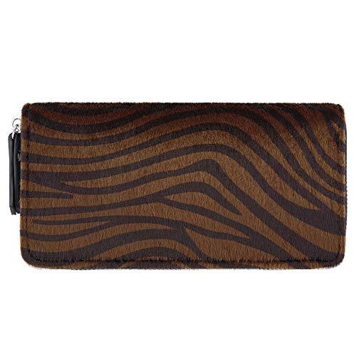 Zebra donna da Money Purse Pattern Bags Gengxinlin Patchwork Cards Donna Bag Portafogli Frizione Long qwXZ4fPyU