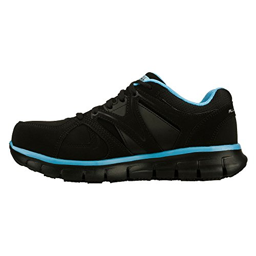 Alloy Work Toe Black Blue Work Skechers Synergy up Lace Shoe Sandlot Women's fwIw8xqX