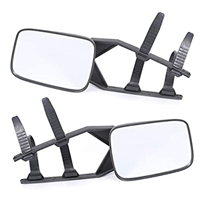 7BLACKSMITHS Clip-On Towing Mirror Extender Extension Trailer SUV Rv Car-1 Pair