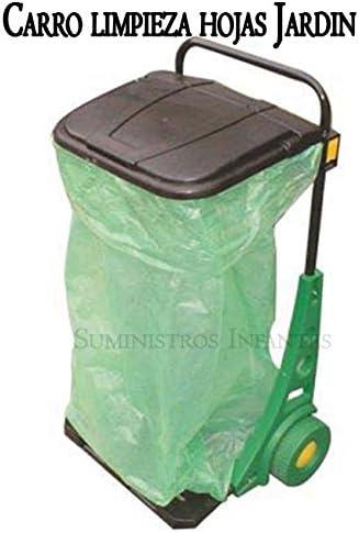 CARRO de JARDIN. Util para recoger hojas en jardinería. Color negro. Se puede usar por separado, como carretilla de 50 kgs y papelera de pared.: Amazon.es: Bricolaje y herramientas