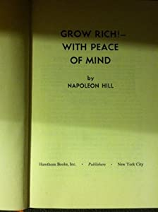 Hardcover Grow Rich with Peace of Mind Book