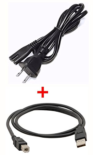 PlatinumPower Power Cable + USB Cord for HP Photosmart B211A, 5510, 5520, 6510, 6520, 6525, 6510, 7520, B8550