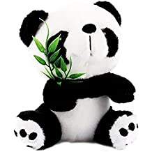 Yosoo 15cm Cute Panda with Bamboo Soft Panda Plush Toy Panda Bear Stuffed Animal Panda Soft Toy Animal Doll Toys Gift Panda Toys for Kids