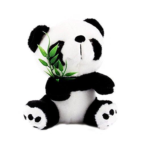 Yosoo 15cm Cute Panda with Bamboo Soft Panda Plush Toy Panda Bear Stuffed Animal Panda Soft Toy Animal Doll Toys Gift Panda Toys for Kids from Yosoo