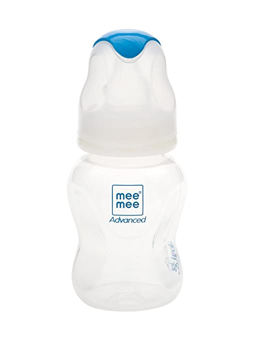2a5cf2ad03e2a Buy Mee Mee Milk Safe Feeding Bottle Advanced (White, 125 ml) Online at Low  Prices in India - Amazon.in
