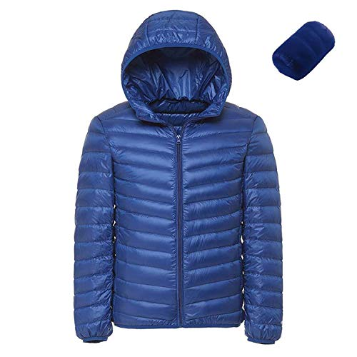 Filter Content Coat Blue - I'm good at you 2018 Men Hooded Ultralight White Duck Down Jacket Warm Jacket Portable Package Men Pack Jacket,Sky Blue,XL
