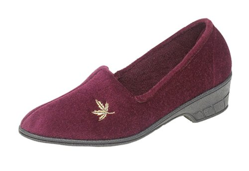 Rouge Sleepers Chaussons femme Bordeau pour x4SwtA47q