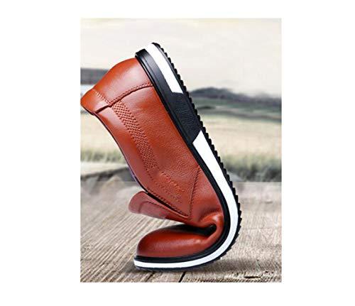 Todos Simple Hombres Cuero White Puntiagudos Jóvenes Conjunto De Blanco Los Días Fondo Suave Zapatos Suave Marrón Casuales Negro wfqPx6t