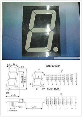 Lot of 10 pcs 7 Segment Red LED Display 3/'/'