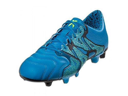 Adidas X 15,1 Fg / Ag Heren Voetbal Cleat Blauw / Geel Maat 7