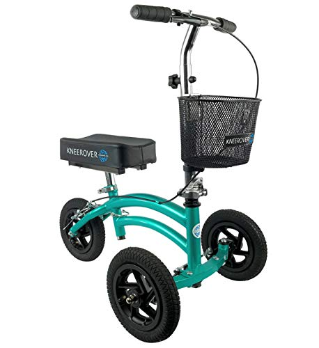 - NEW Small Petite Adult All Terrain KneeRover Jr - Steerable Knee Walker Knee Scooter Crutches Alternative in Coastal Teal