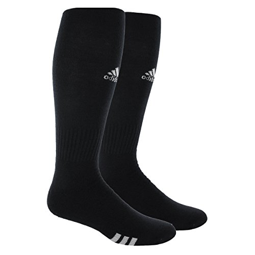 adidas Unisex Rivalry Field OTC Socks (2-Pack), Black/White, Medium