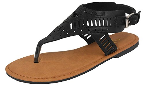 The A Suede Thong Sandal - 7