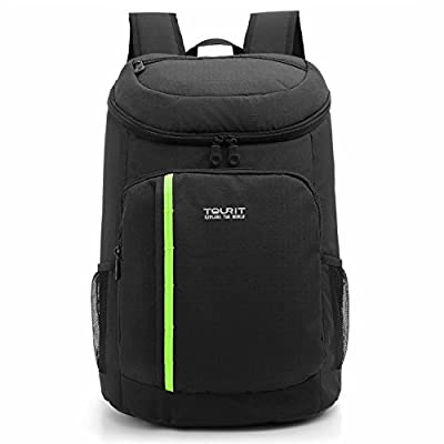 TOURIT Insulated Cooler Backpack 21 Cans Lightweight Backpack with Cooler Leak-proof Soft Cooler Bag Large Capacity 28L for Men Women to Picnics, Camping, Hiking, Beach, Park or Day Trips