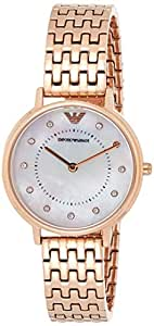 Emporio Armani Women's 'Kappa' Quartz Stainless-Steel-Plated Casual Watch, Rose Gold-Toned (Ar11006), Analog Display