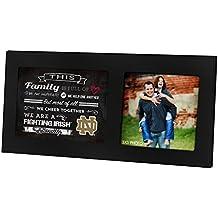 "KH Sports Fan 16""X8"" Notre Dame Fighting Irish Family Cheer Black Single Collage Photo Frame"