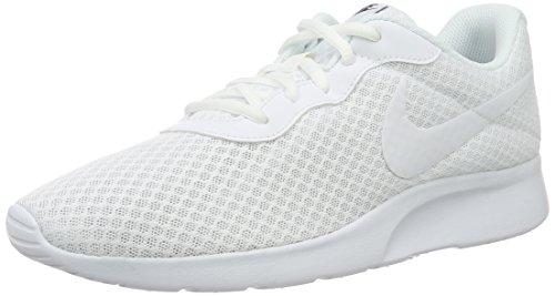 NIKE Women's Tanjun Running Shoes White White Black