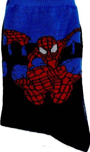 Spiderman Jungen Socken Schwarz Blau Spiderman Spitzkelle Gr. 40-42, Blau - Blau