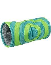Trixie Cushy pluszowy tunel do zabawy, 15 x 35 cm, szary/zielony