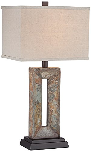 Tahoe Small Rectangular Slate Table (Lamp Rectangular Table Lamp)
