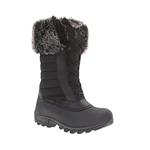 Kamik Womens Haley Snow Boot  Black  7 M Us
