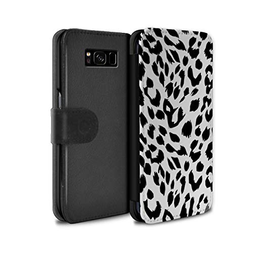 (eSwish PU Leather Wallet Flip Case/Cover for Samsung Galaxy S8/G950 / Snow Leopard Design/Fashion Animal Print Pattern Collection)