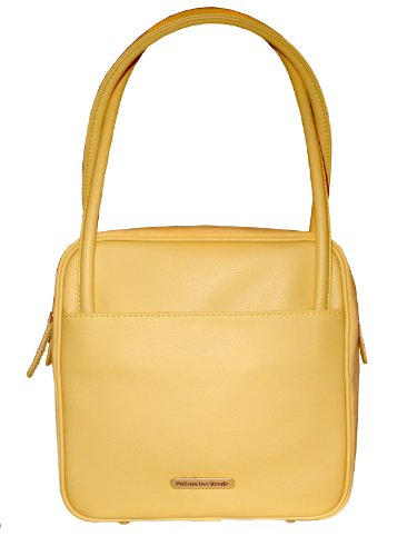 Palloncino Verde Soft Eco Leather Butter Yellow Square Handbag