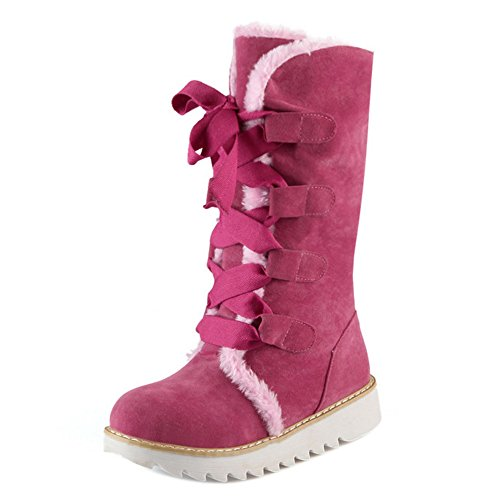 Up Pink COOLCEPT Lace Boots Women CqXffwUtnO