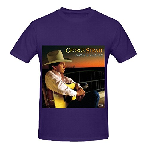 George Strait Chill Of An Early Fall Rock Men O Neck Printed Shirts Purple