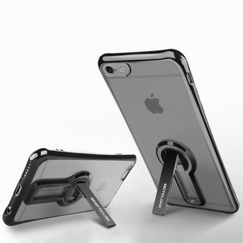 iPhone 6/ 6s Case with Kickstand, 360 degree Rotatable Stand Cute Plating Soft Full Body Covered Protective Phone Case For Girls, Women For Apple iPhone 6/ 6s - Black Photo #4