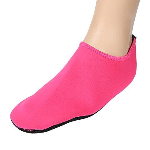 Sandali Yoga D'acqua Scarpe Formatori Piedi Moresave Rose Rosso Surf Pelle Unisex Sport Calzini Nudi Calzature AP1wAxqYpn