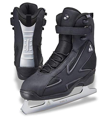 (Jackson Ultima Softec Elite ST7002 Black Mens Ice Skates with MARK II blades, Size 12)