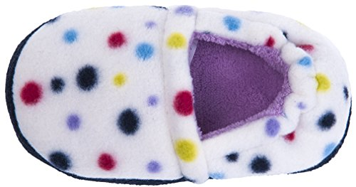 MIXIN Girls Memory Foam Indoor Outdoor Winter Warm Cute Soft Cozy Slip on Non Slip Slippers Shoes(Toddler/Little Kid) Dots Size 9-10 M by MIXIN (Image #4)