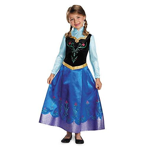 Anna Traveling Prestige Child Costume, X-Small (3T-4T) ()