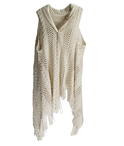 Abstract pattern knitted scarf vest