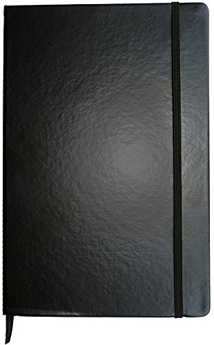 2018 Large Black Dinira Password Journal Notebook 7x10 Inches, Bonded Leather, Elastic Closure with a Guide to Hiding Your Passwords in Plain Sight