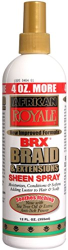 Extensions Sheen Spray - African Royale BRX Braid and Extensions Sheen Spray, 12 oz (Pack of 4)