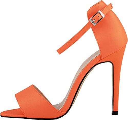 Salabobo - Zapatos con correa de tobillo mujer , color negro, talla 41