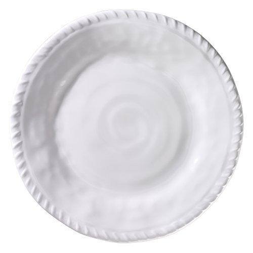 Merritt White Nautical Rope 9-inch Melamine Salad Plates, Set of 6