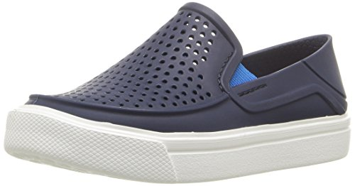 Crocs Kids' Citilane Roka Slip-On, Navy, 7 M US Toddler