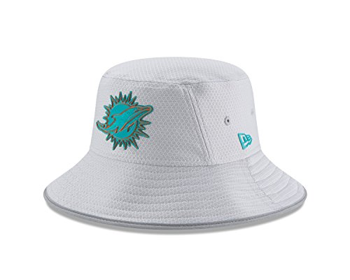- New Era Miami Dolphins NFL 2018 Training Camp Sideline Bucket Hat - Gray