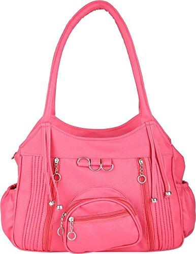 Ritupal Collection Women s Shoulder Handbag Pink  Amazon.in  Shoes    Handbags 5c5a50f74bebb