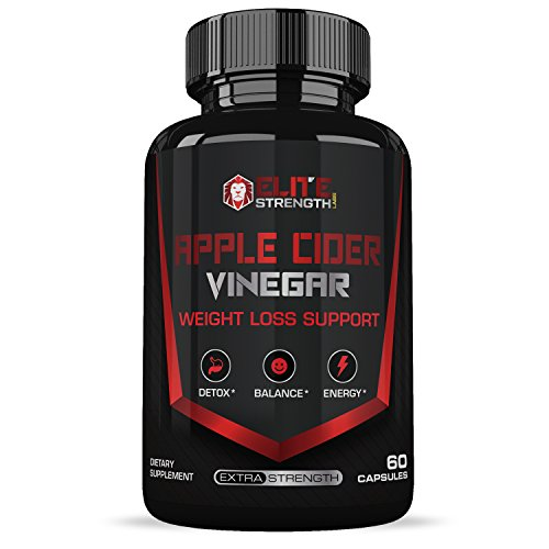 Apple Cider Vinegar Capsules :: Weight Loss Support :: Works to Cleanse Your Body of Toxins :: Boosts Your Energy :: 60 Veggie Capsules Per Bottle :: Elite Strength Labs